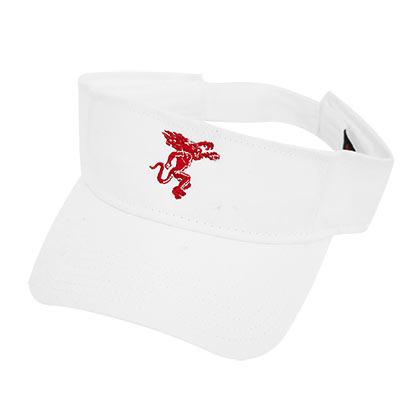 Fireball White Adjustable Visor