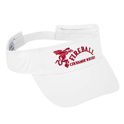 Fireball White Adjustable Full Logo Visor