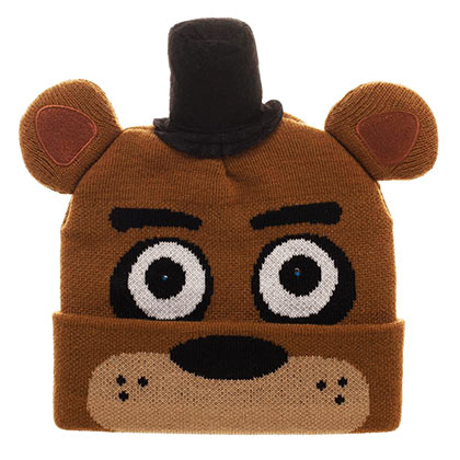 Five Knights At Freddy's Brown LED Eye Costume Beanie