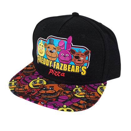 Five Nights At Freddy's Boys Black Snapback Hat