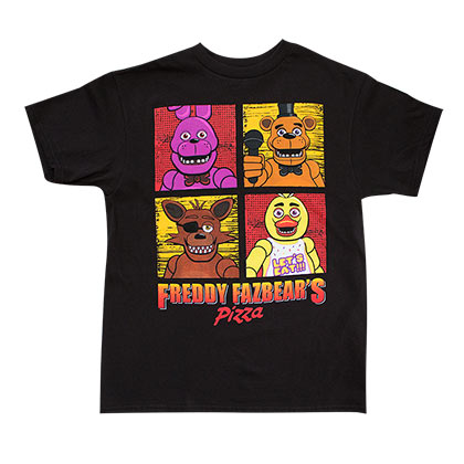 Five Nights At Freddy's Youth Boys Black T-Shirt