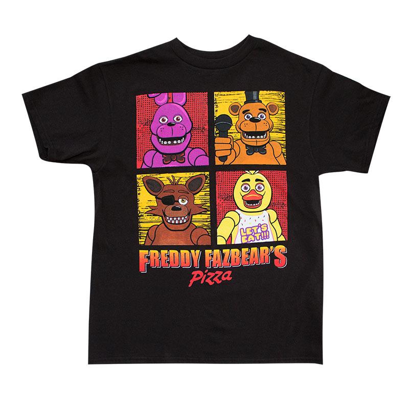 Five Nights At Freddy's Youth Boys Black T-Shirt