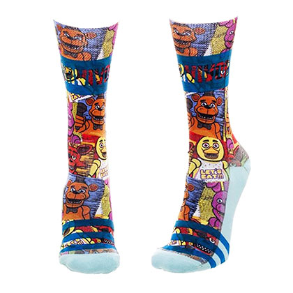 Five Nights At Freddy's Multi-Colored Juniors Crew Socks
