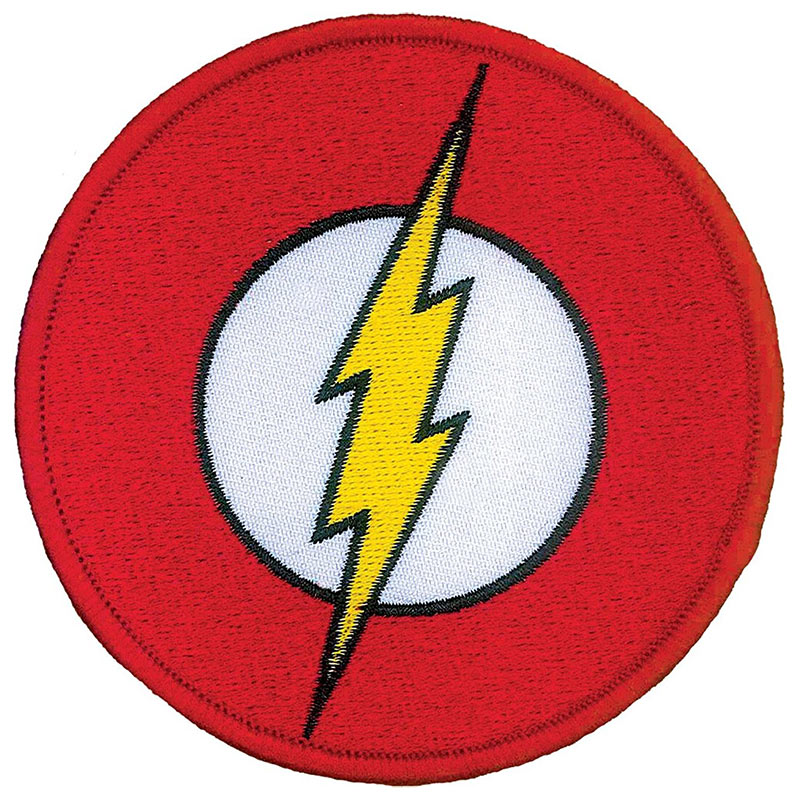 flash comic logo iron on patch superheroden com