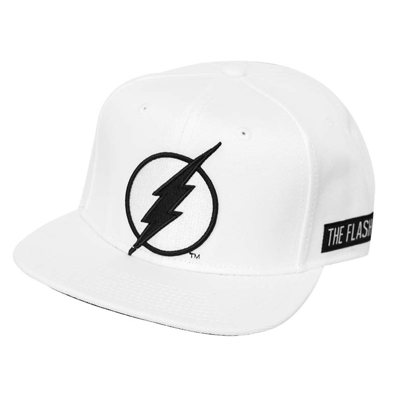 Flash Patch White Snapback Hat