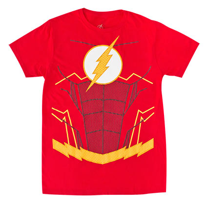 The Flash Men's Red Suit Up Costume T-Shirt