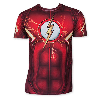 Flash Men's Red Sublimated Costume T-Shirt