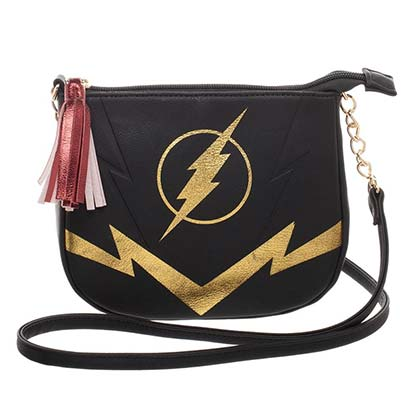 Flash Black Crossbody Metal Charm Purse