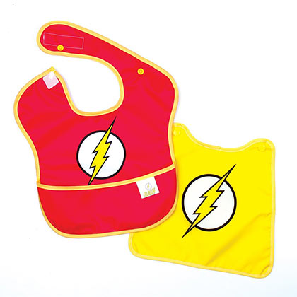 The Flash Red Costume Caped Bib