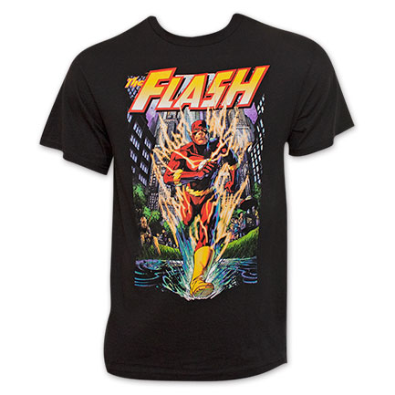 The Flash Men's Black Running T-Shirt