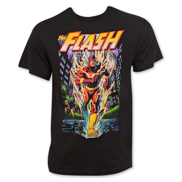 The Flash Men's Black Running T-Shirt