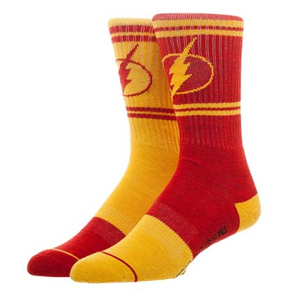 The Flash Superhero Flipped Colors Men's Crew Socks