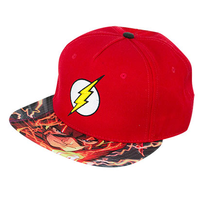 The Flash Red Sublimated Bill Comic Snapback Hat