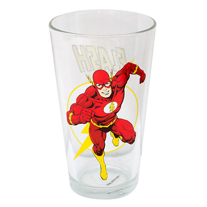 The Flash Comic Pint Glass