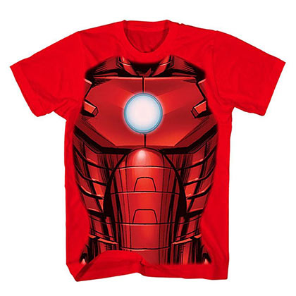Iron Man Boys Red Costume T-Shirt