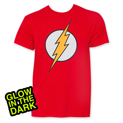 Flash Men's Red Glow In The Dark T-Shirt