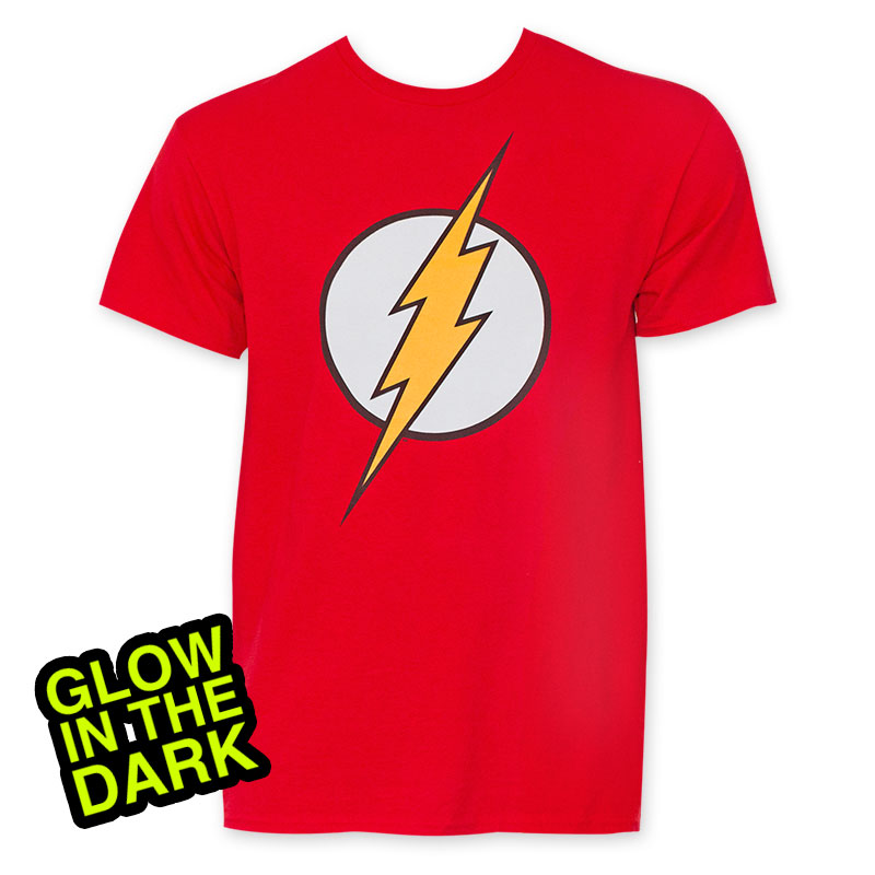 Flash Men's Red Glow In The Dark T-Shirt
