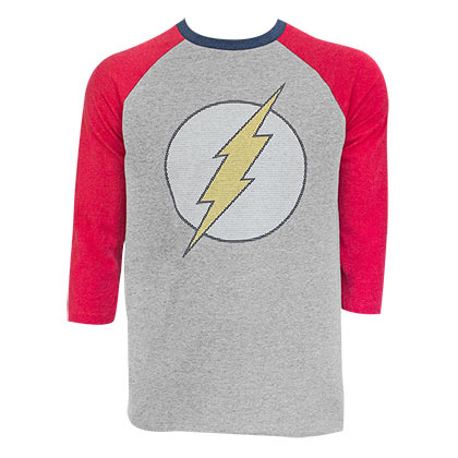 The Flash Men's Grey Raglan Sleeve T-Shirt