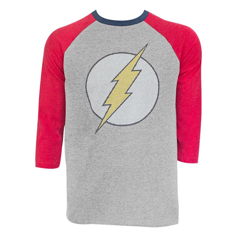 The Flash Men's Grey Raglan Sleeve T-Shirt