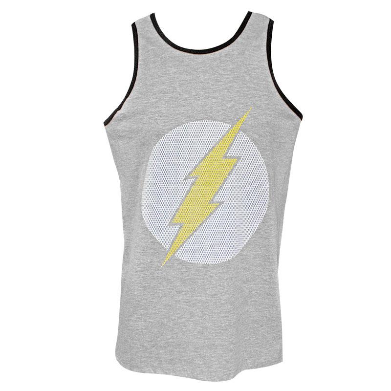 The Flash Jersey Logo Men's Grey Tank Top