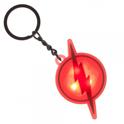The Flash Flashing Logo Keychain