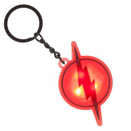 The Flash Light Up Logo Keychain