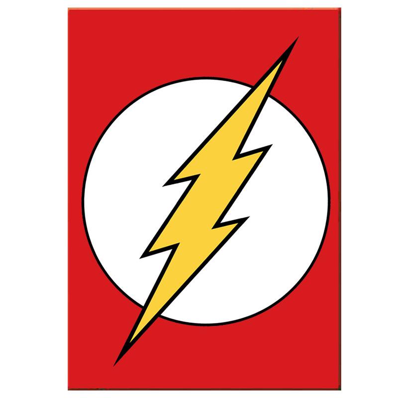the flash comic logo magnet superherodencom