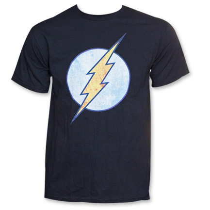 The Flash Distressed Logo Men's Black Tshirt