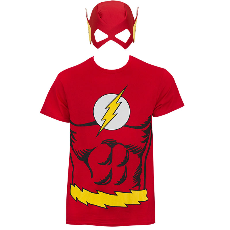 The Flash Menu0027s Red Mask Costume T-Shirt  sc 1 st  SuperheroDen.com & The Flash Menu0027s Red Mask Costume T-Shirt | SuperheroDen.com