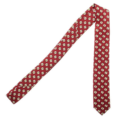 The Flash Red Micro Print Neck Tie