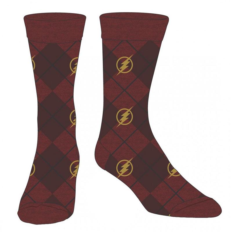 Flash Red Logo Men's Dress Socks