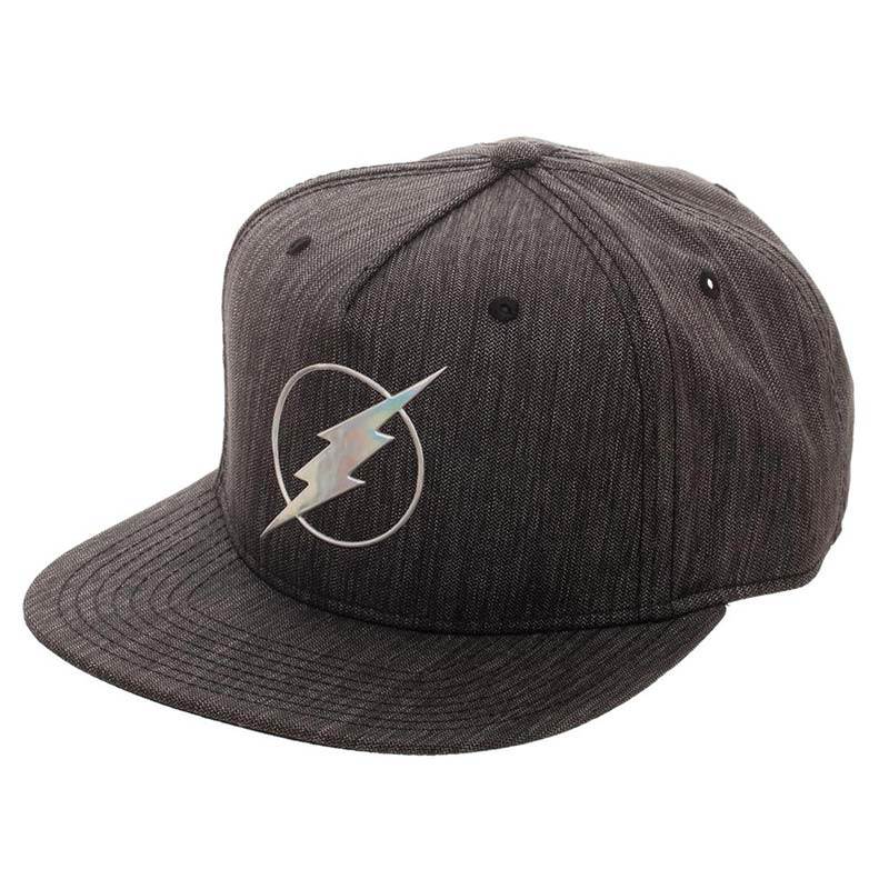 The Flash Grey Iridescent Logo Snapback Hat