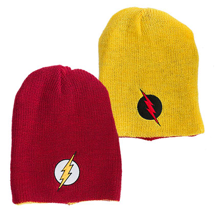 The Flash Reversible Winter Slouch Beanie