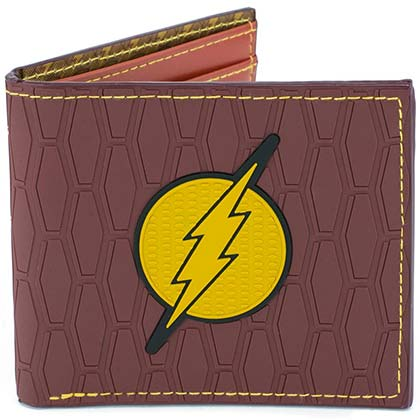 The Flash Logo Red Rubber Wallet