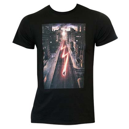 Flash Comic Running Thru City Shirt