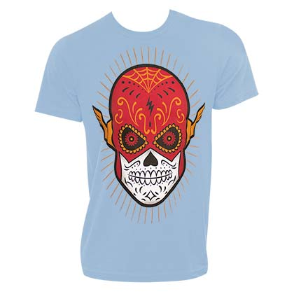 The Flash Sugar Skull Blue Tshirt