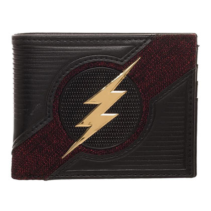 The Flash Black Bifold Chrome Logo Wallet