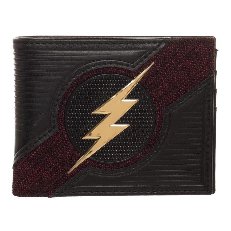 The Flash Black Bifold Chrome Logo Wallet