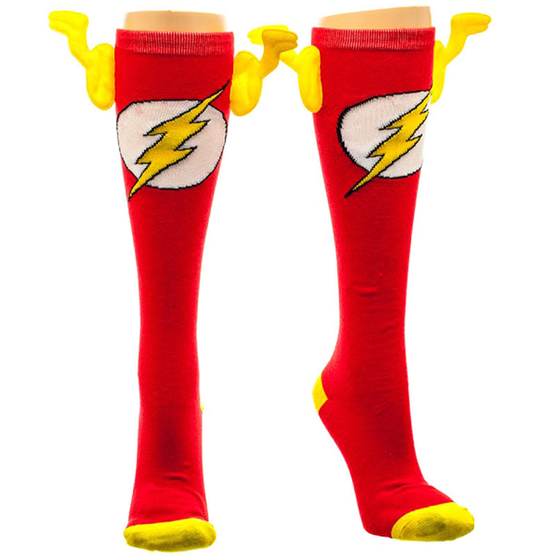 Flash Red And Yellow Women's Winged Socks