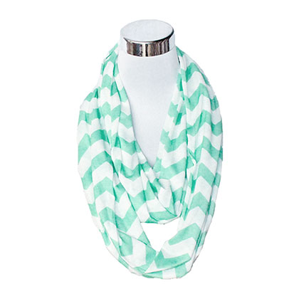 Mint Green And White Flask Scarf