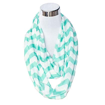 Green And White Flask Scarf