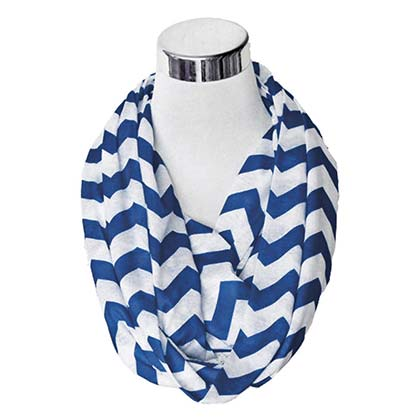 Navy And White Secret Flask Scarf