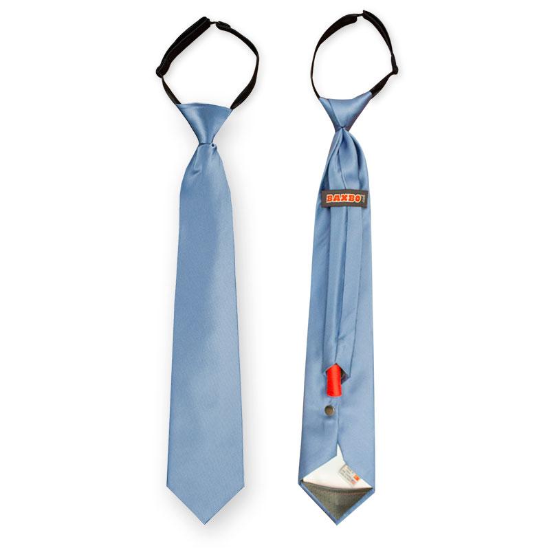 Liam Blue Flask Necktie