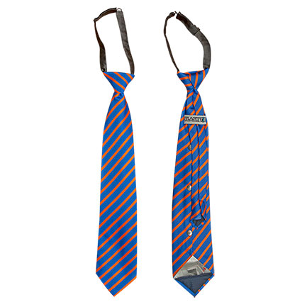 Flask Tie Hidden Flask In Blue & Orange Stripes