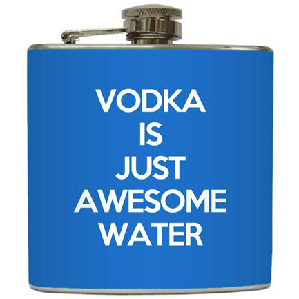 Vodka Awesome Water Novelty Flask