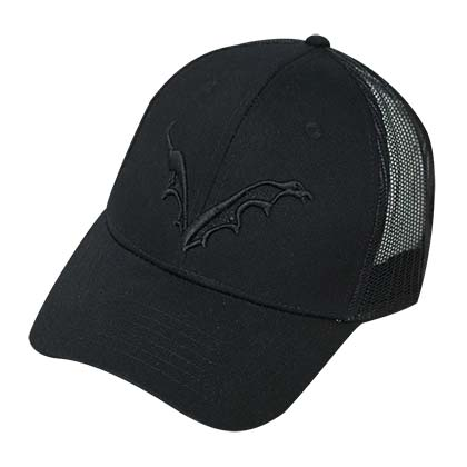 Flying Dog Logo Men's Trucker Black Hat