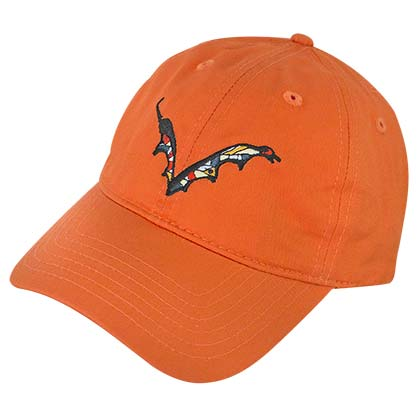Flying Dog Beer Batwing Logo Orange Dad Men's Hat