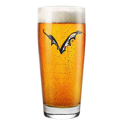 Flying Dog Logo Pint Glass