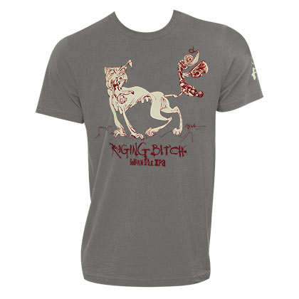 Flying Dog Men's Gray Raging Bitch T-Shirt