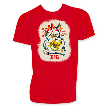 Flying Dog Snake Dog Men's Red T-Shirt